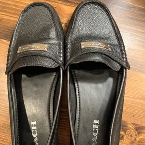 Coach Black Loafers Size 8